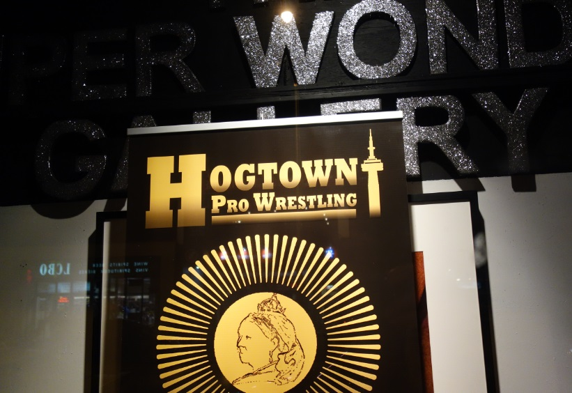 Hogtown banner in Front Window