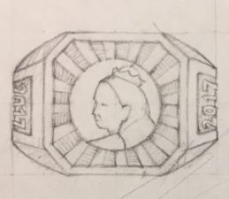 close-up of Victoria in Hogtown Ring Design