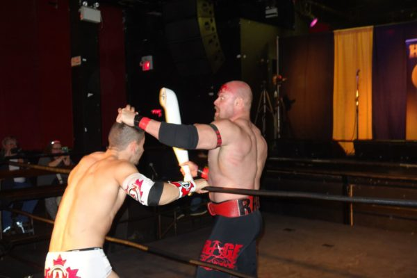 wrestlers use mannequin arms in match